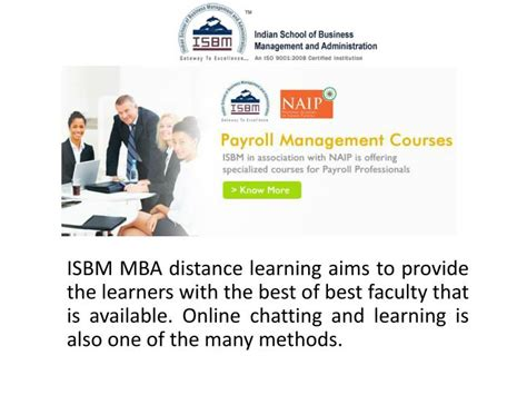Distance Mba Has Any Value by Ppt Value Of Isbm Mba Distance Learning Courses