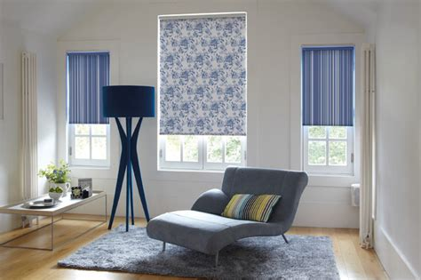 Living Room Roller Blinds Roller Blinds With A Twist Contemporary Living Room