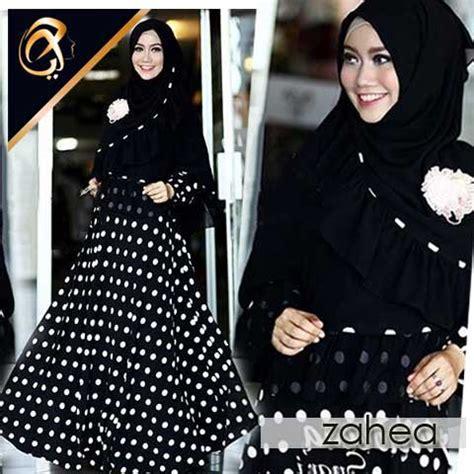 Maxi Payung Balon Gradasi Busui gamis syari zahea polka a048 busana muslim model terbaru