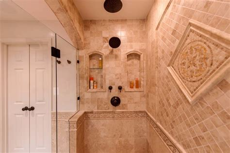 roman style home decor roman style bath adds splendor to reston townhome traditional bathroom dc metro by