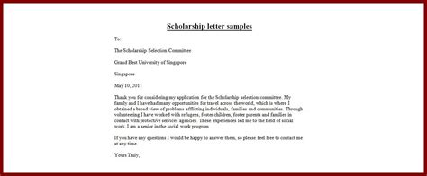 exle of formal letter for bursary application scholarship application letter letter for scholarship