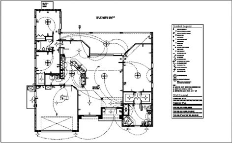 Electrical Plan With Electrical Legend Dwg File