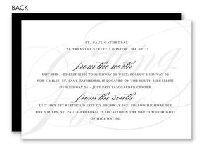 Bliss Gift Card Amount - eternal bliss black directions cards by noteworthy collections at invitationbox com
