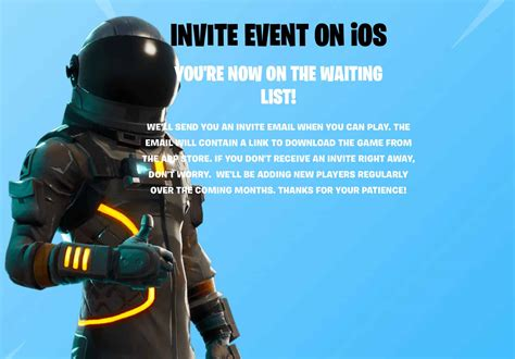 fortnite ios fortnite lands on ios sign up for early access now