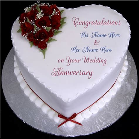Marriage Anniversary Image For Chacha And Chachi by Happy Anniversary Shape Wishes Cake With Name