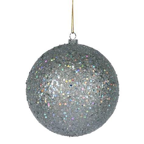 vickerman 35058 silver colored christmas tree ball ornament