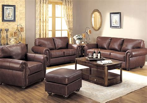 brown leather living room furniture brown full leather traditional living room