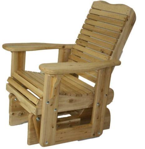 canadian glider chair amish mennonite made cedar wood glider glding rocker kit