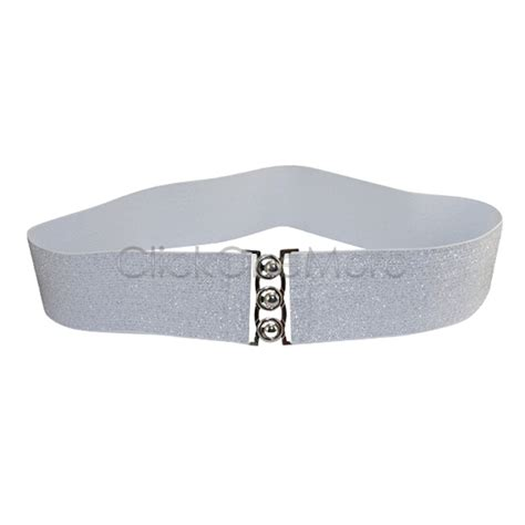 88g shinning silver white cinch buckle 2 inch wide