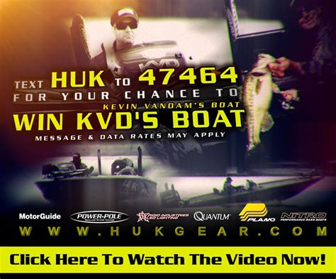 Sweepstakes Boat - boat giveaway huk gear