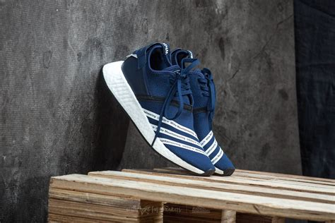 Adidas Nmd R2 Primeknit White 1 adidas x white mountaineering nmd r2 primeknit navy white white footshop
