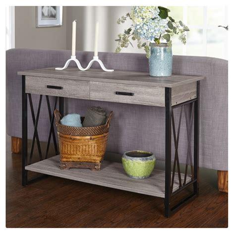 simple living seneca sofa table furniture simple living seneca black grey reclaimed look
