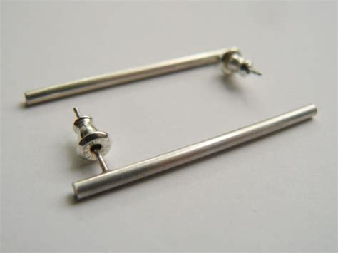 sterling silver bar earrings 187 hook matter
