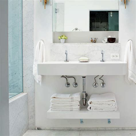 bathroom sink storage ideas how to keep towels in the bathroom practical
