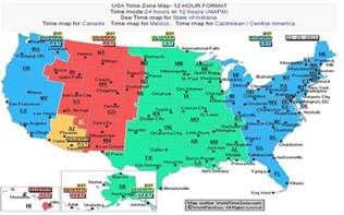 time zone map usa with cities time zone map usa with
