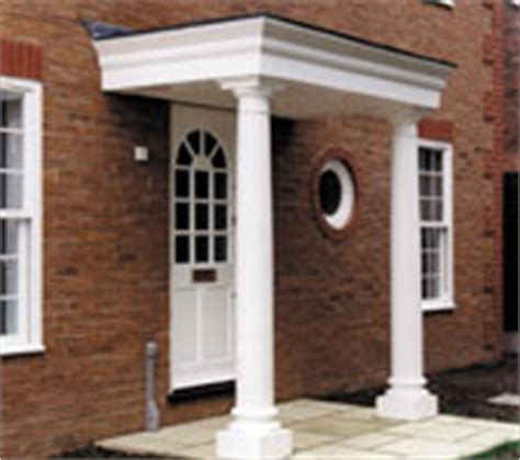 Front Door Canopies With Pillars Aristocast External Grp Plaster Mouldings Plaster Outdoor Door Surrounds Outdoor Plaster