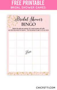 free printable bridal shower bingo gold bridal showers