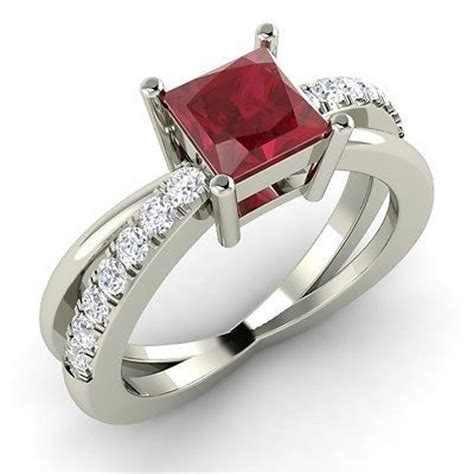 ruby ring ruby ring princess cut