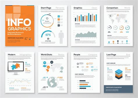 infographic template word free infographic brochure template creativebooster