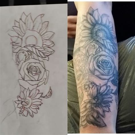 rose and sunflower tattoo roses and picture at checkoutmyinkcom