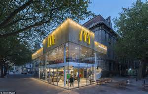 McDonald's voted 'ugliest building in Rotterdam' is transformed into restaurant   Daily Mail Online