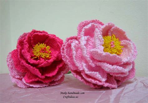 how to knit crochet flowers crochet peony flowers for beautiful bouquet craft ideas