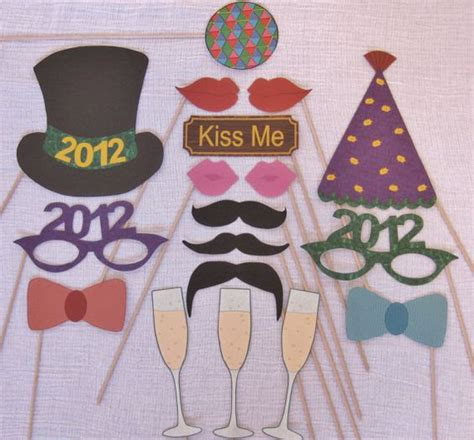 printable photo booth props new years eve download 2017 new year eve photo booth props decorations