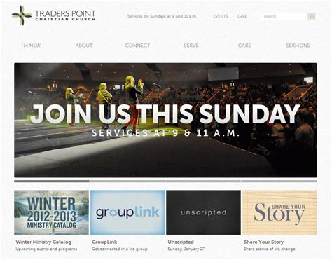 best church websites 30 engaging and best church websites for your inspiration