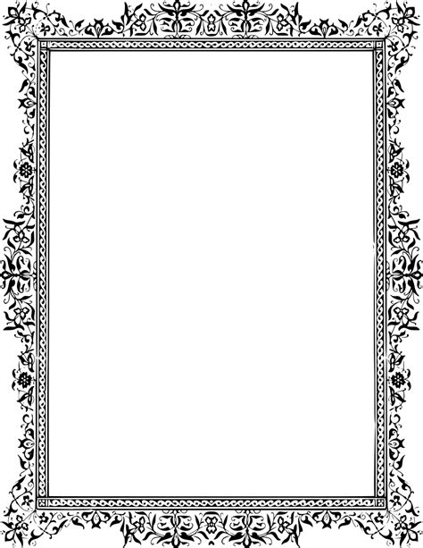 classic floral frame - /page_frames/floral/leaves/gray