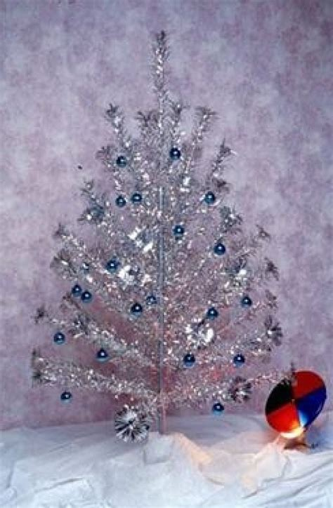 aluminum christmas tree with light wheel sheri s retro