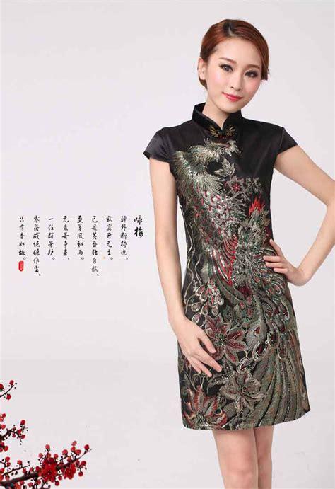 Ready Hitam Dress Kode 429 dress cheongsam imlek 2015 warna hitam model terbaru