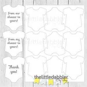 baby shower favor templates baby shower mini onesie favor thank you gift tag template