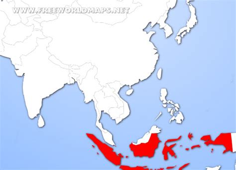 where is indonesia on the world map where is indonesia map