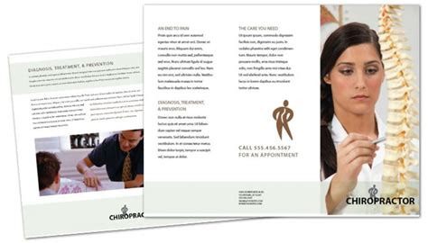chiropractic brochures template tri fold brochure template for chiropractic clinic