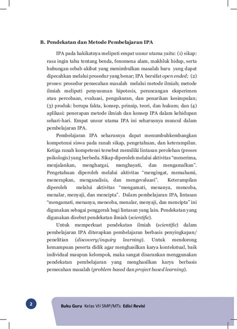 Buku Pendekatan Ilmiah Dalam Implementasi Kurikulum 2013 Abdul M Pr buku guru ipa kelas vii smp kurikulum 2013