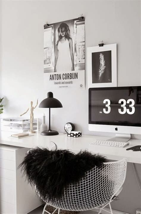 black and white home office decorating ideas workspace home office details ideas for homeoffice interior design decoration