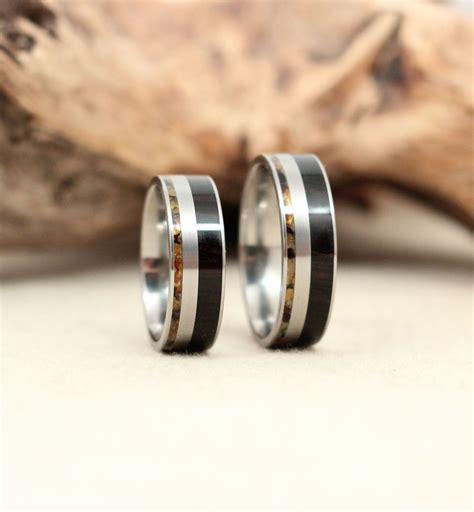 Ring Titanium Bvl 3 titanium and wood rings wedgewood rings
