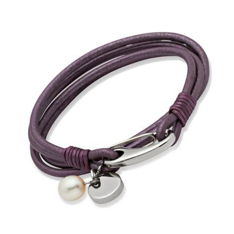 Leather Bracelet 10 s purple leather bracelet pearl un b67be 163 24 00 10sterling