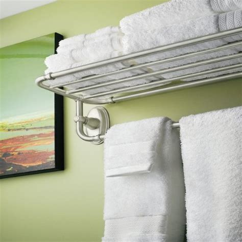 Moen Kingsley Towel Shelf new moen yb5494bn kingsley hotel towel shelf brushed nickel free shipping ebay