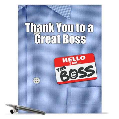j9108 jumbo funny thank you card thank you to a great boss