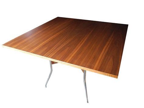 modern walnut square dining table by george nelson