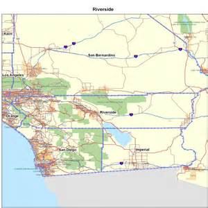 riverside county ca california maps map of california