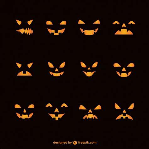 imagenes halloween vectorizadas caras de calabazas para halloween descargar vectores gratis