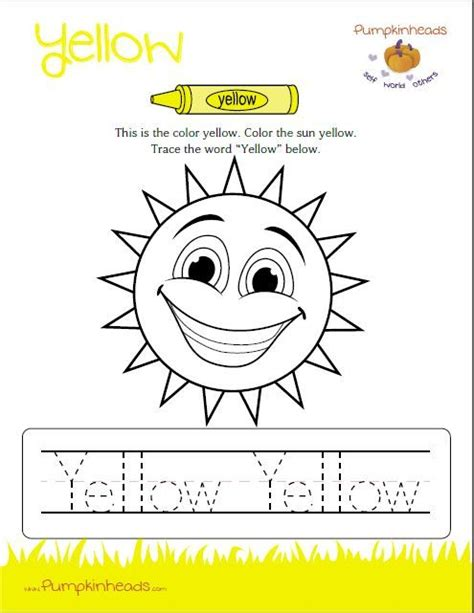 yellow coloring pages for toddlers 23 best color yellow images on pinterest preschool