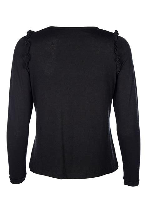 D1030 Blus Simple Black Xl blouse stig p