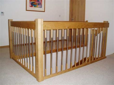Landing Banister by Oak Staircase European Style Handrails