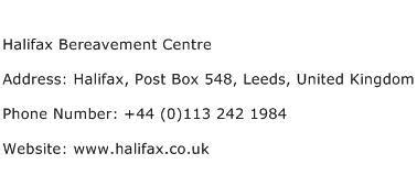 Halifax Address Finder Halifax Bereavement Centre Address Contact Number Of