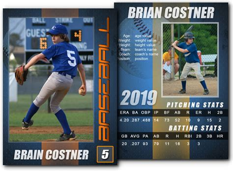 baseball trading card template for photoshop 15 psd football trading card images baseball trading