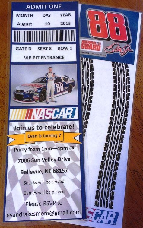 printable nascar birthday invitations nascar birthday party invitations nascar pinterest