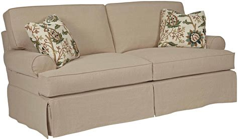 Pillow Back Sofa Slipcovers Furniture 648 96 Two Seat Sofa With Slipcover Tailoring Pillow